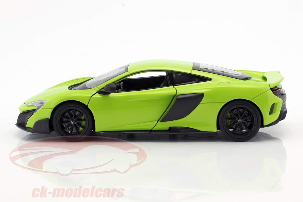 McLaren 675LT année 2017 vert clair 1:24 Welly