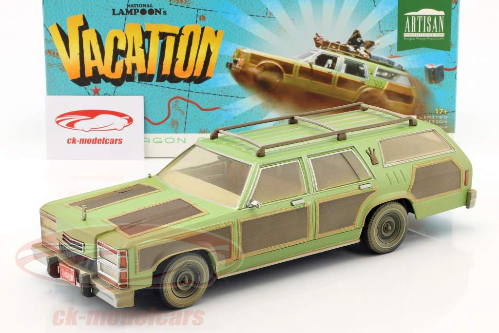 Wagon Queen Family Truckster 1979 película National Lampoon's Vacation 1983 verde / marrón 1:18 Greenlight
