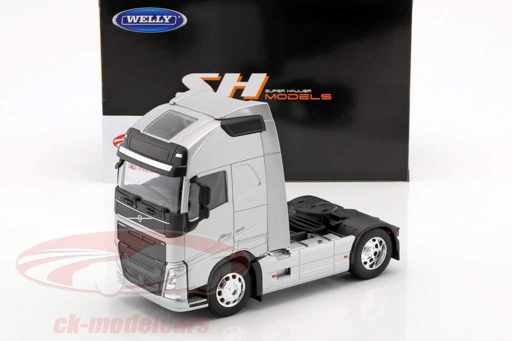 Volvo FH (4x2) trator ano de construção 2016 prata metálico 1:32 Welly