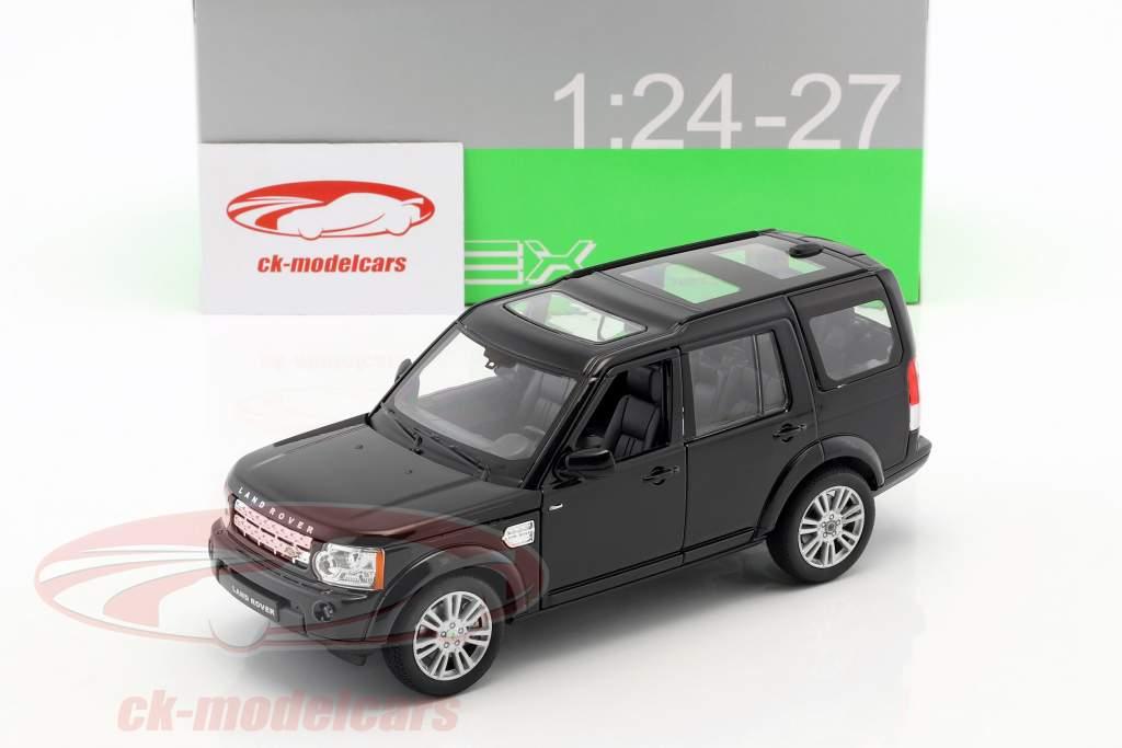 Land Rover Discovery ano de construção 2010 preto 1:24 Welly