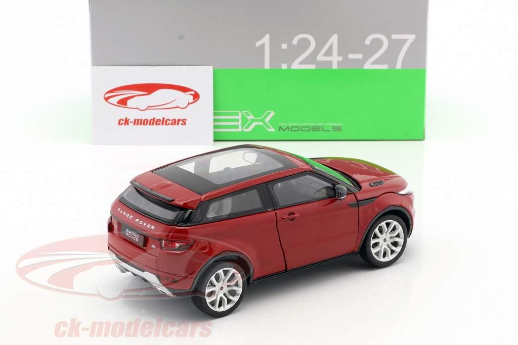 Range Rover Evoque ano de construção 2011 firenze vermelho 1:24 Welly