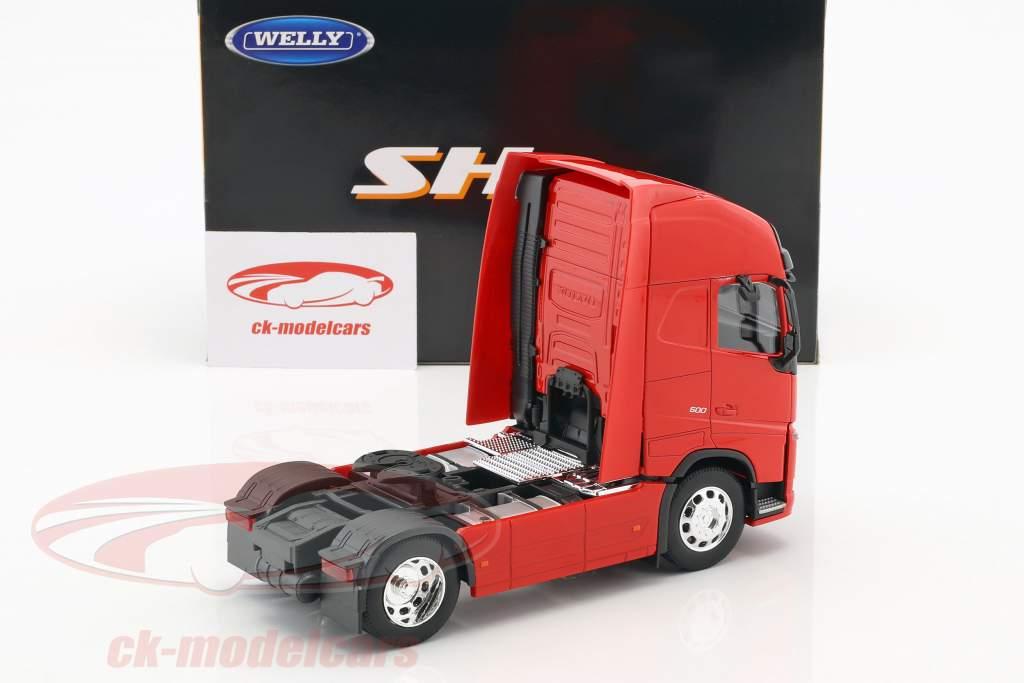 Volvo FH (4x2) trekker Bouwjaar 2016 rood 1:32 Welly