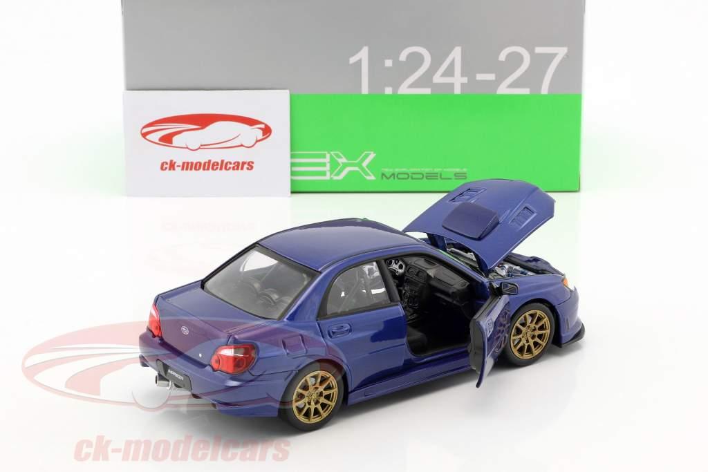 Subaru Impreza WRX STi Baujahr 2010 blau 1:24 Welly