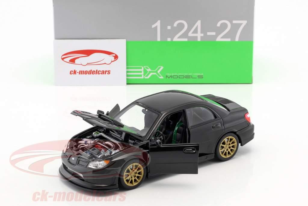 Subaru Impreza WRX STi Opførselsår 2010 sort 1:24 Welly