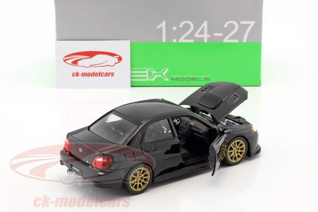 Subaru Impreza WRX STi año de construcción 2010 negro 1:24 Welly