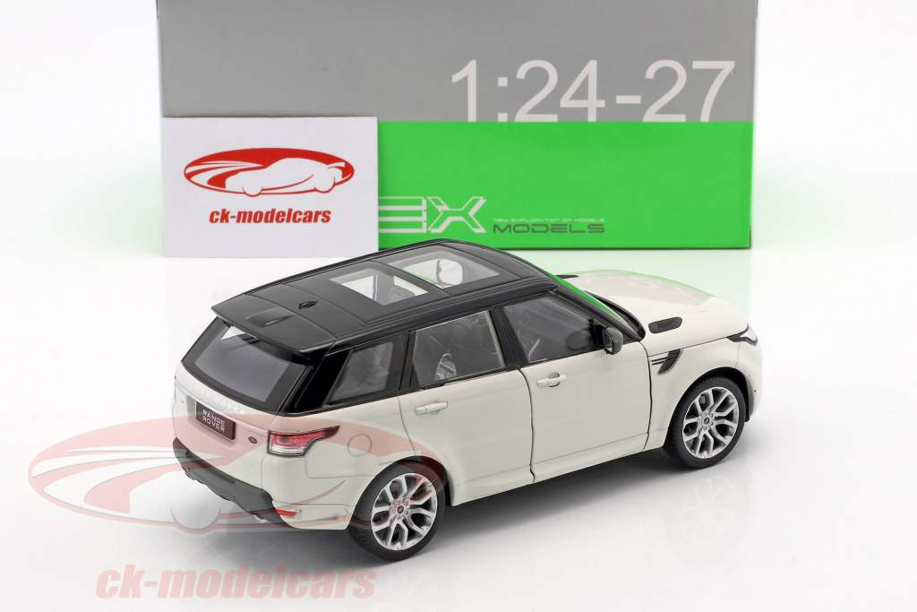 Range Rover Sport year 2015 white / black 1:24 Welly
