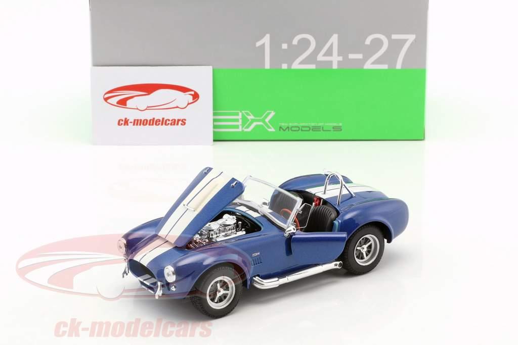 Shelby Cobra SC 427 ano de construção 1965 azul / branco 1:24 Welly