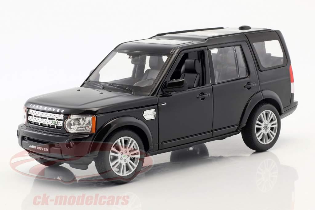 Land Rover Discovery Bouwjaar 2010 zwart 1:24 Welly