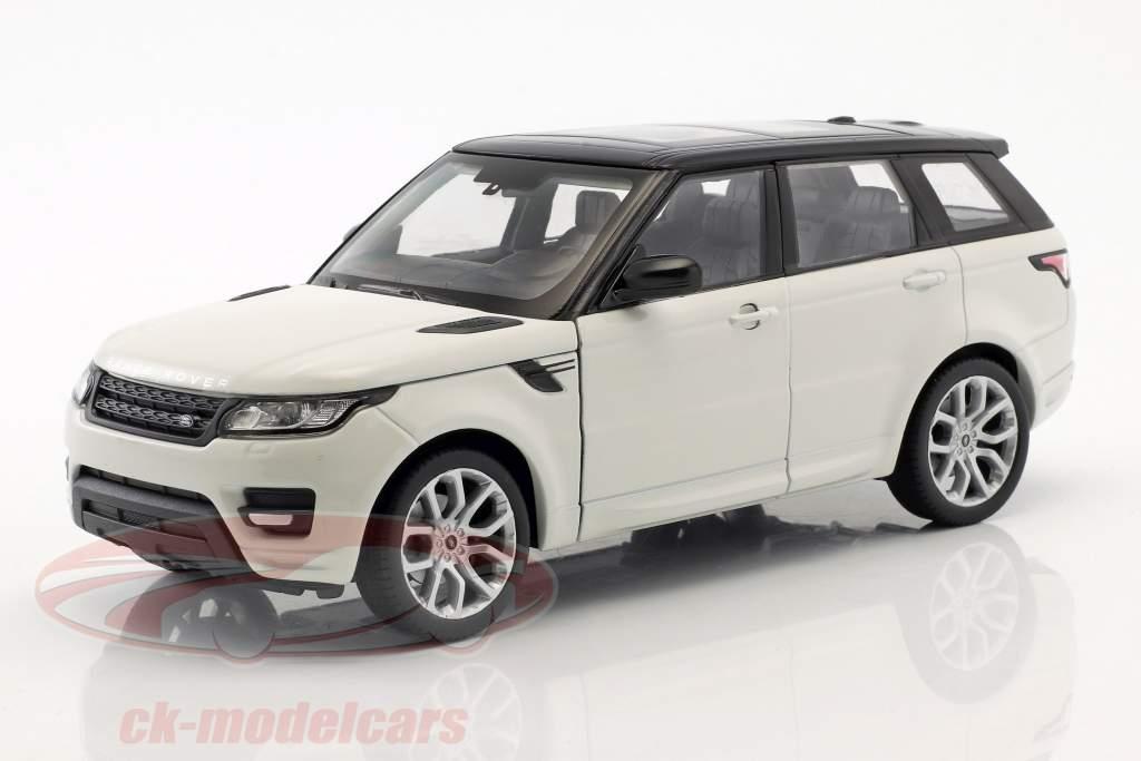 Range Rover Sport ano de construção 2015 branco / preto 1:24 Welly