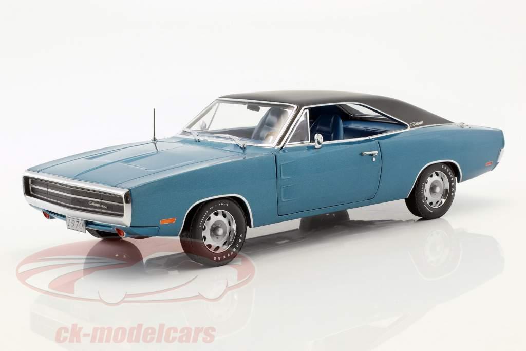 Dodge Charger 500 SE año de construcción 1970 azul / negro 1:18 Greenlight