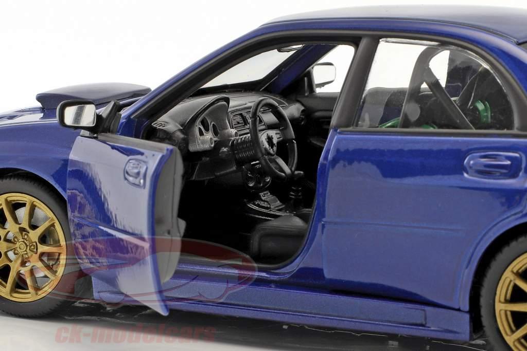 Subaru Impreza WRX STi année de construction 2010 bleu 1:24 Welly