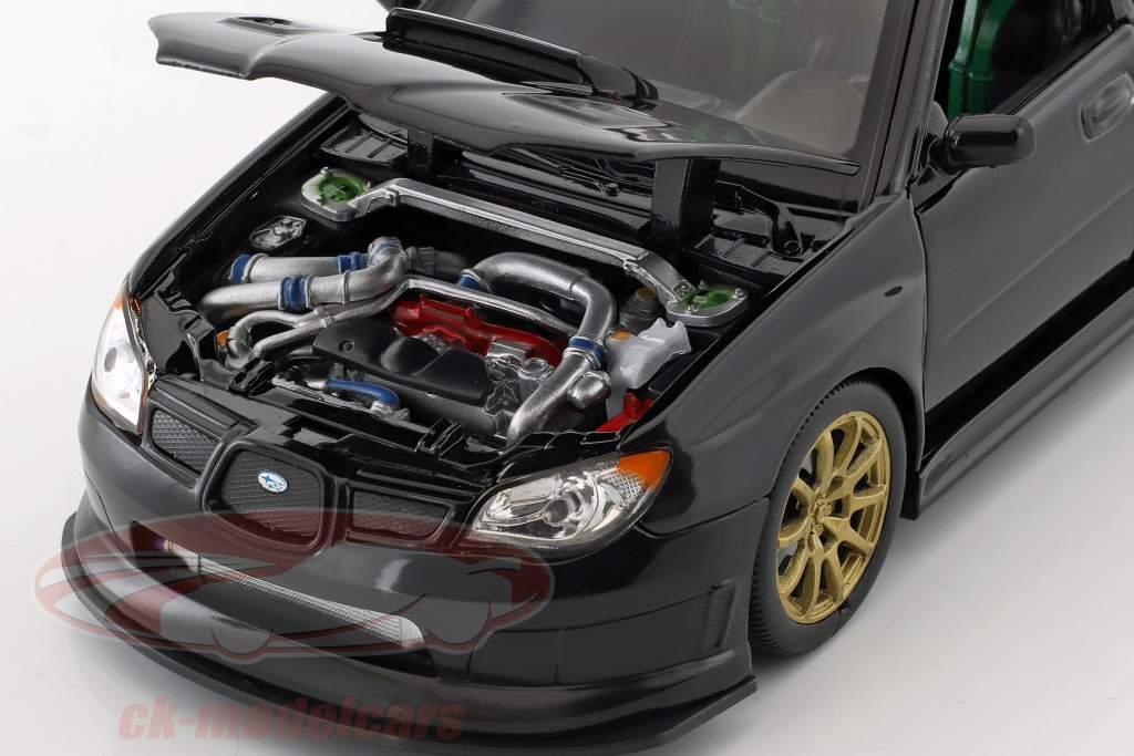 Subaru Impreza WRX STi Bouwjaar 2010 zwart 1:24 Welly
