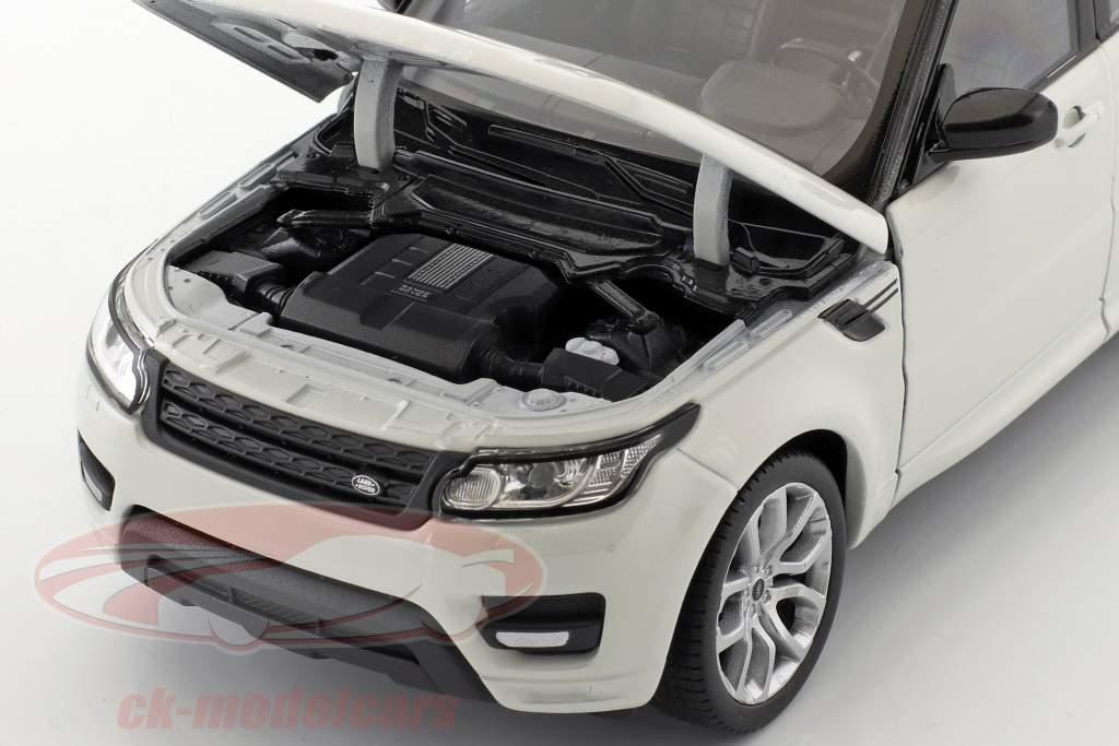 Range Rover Sport year 2015 white / black 1:24 Welly