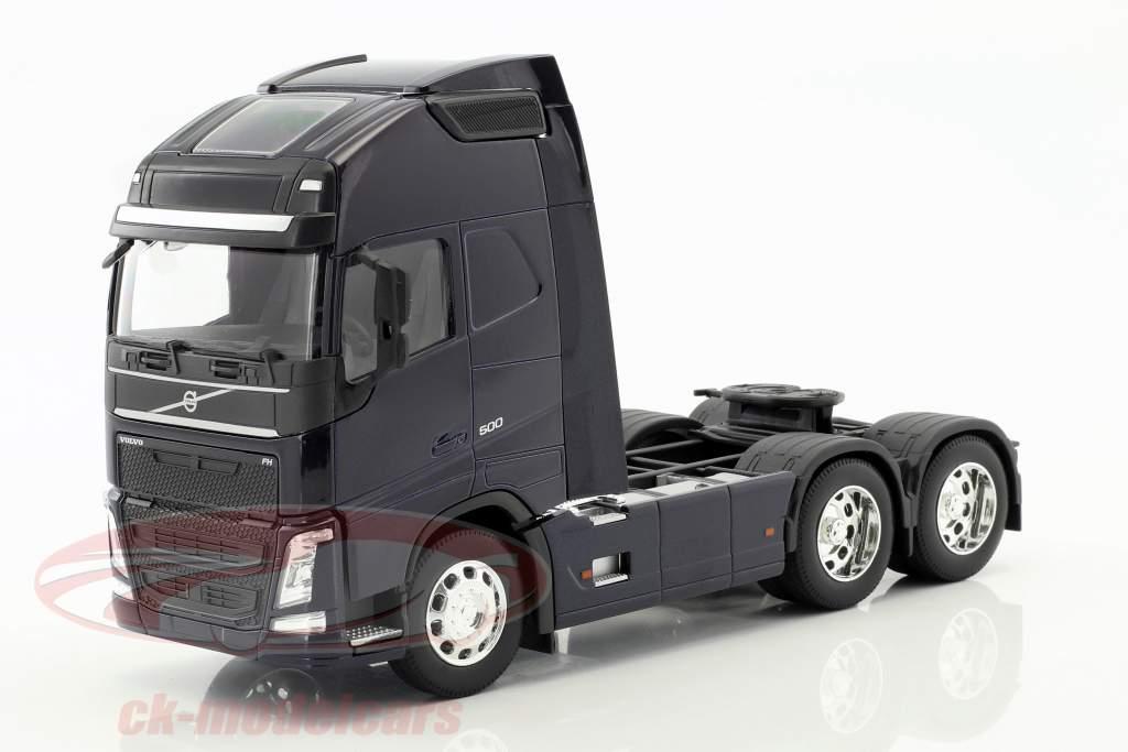 Volvo FH (6x4) trator ano de construção 2016 escuro azul 1:32 Welly