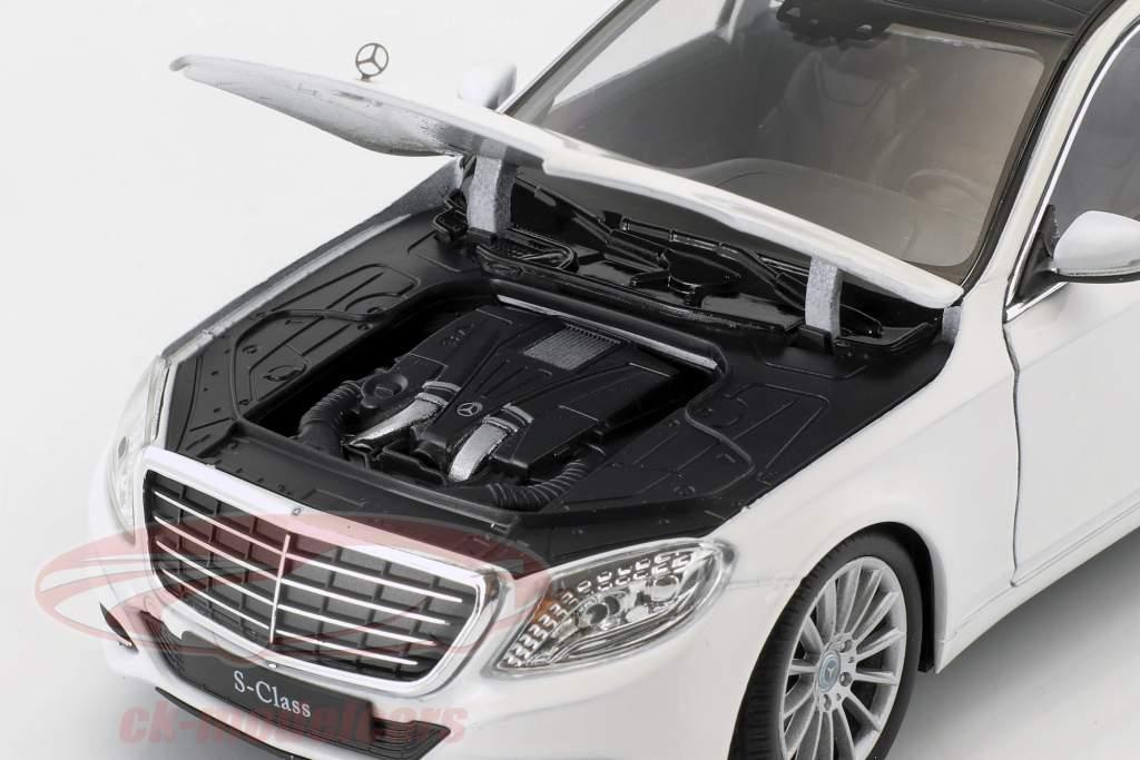 Mercedes-Benz S-Class (W222) année de construction 2015 blanc 1:24 Welly