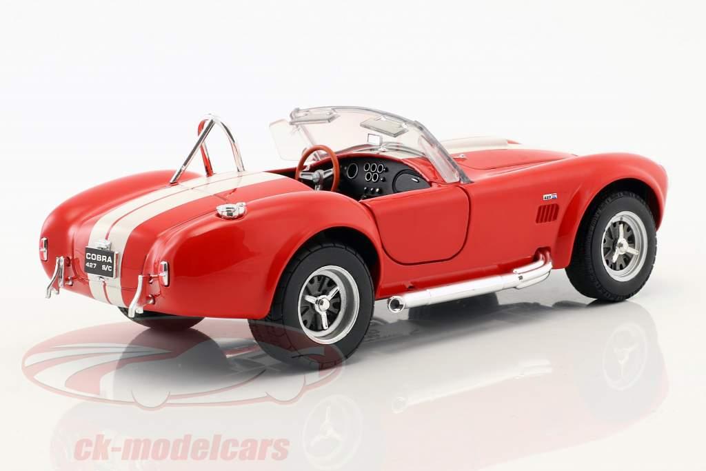 Shelby Cobra SC 427 Baujahr 1965 rot / weiß 1:24 Welly