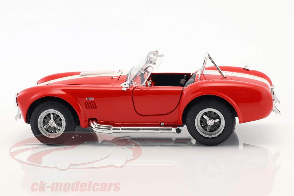 Shelby Cobra SC 427 Bouwjaar 1965 rood / wit 1:24 Welly