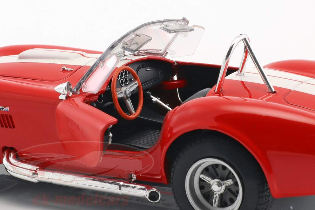 Shelby Cobra SC 427 année de construction 1965 rouge / blanc 1:24 Welly
