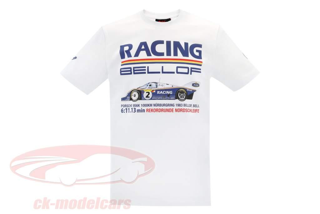 Stefan Bellof Porsche 956K T-Shirt regazo registro 6:11.13 min Nürburgring 1983 blanco