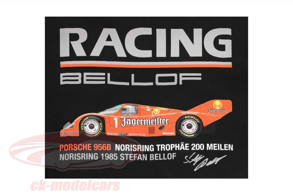 Stefan Bellof Porsche 956B T-Shirt Norisring troféu 200 milhas Norisring 1985 schwarz