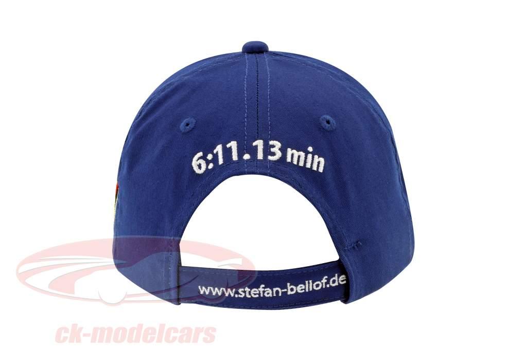 Stefan Bellof Cap 35 anni giro record 6:11.13 min (1983-2018) blu / bianco