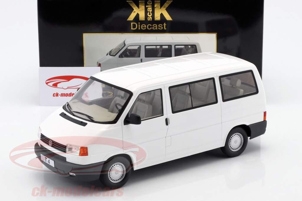 Volkswagen VW T4 ônibus Caravelle ano de construção 1992 branco 1:18 KK-Scale