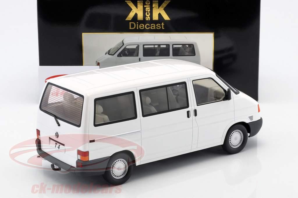 Volkswagen VW T4 autobús Caravelle año de construcción 1992 blanco 1:18 KK-Scale