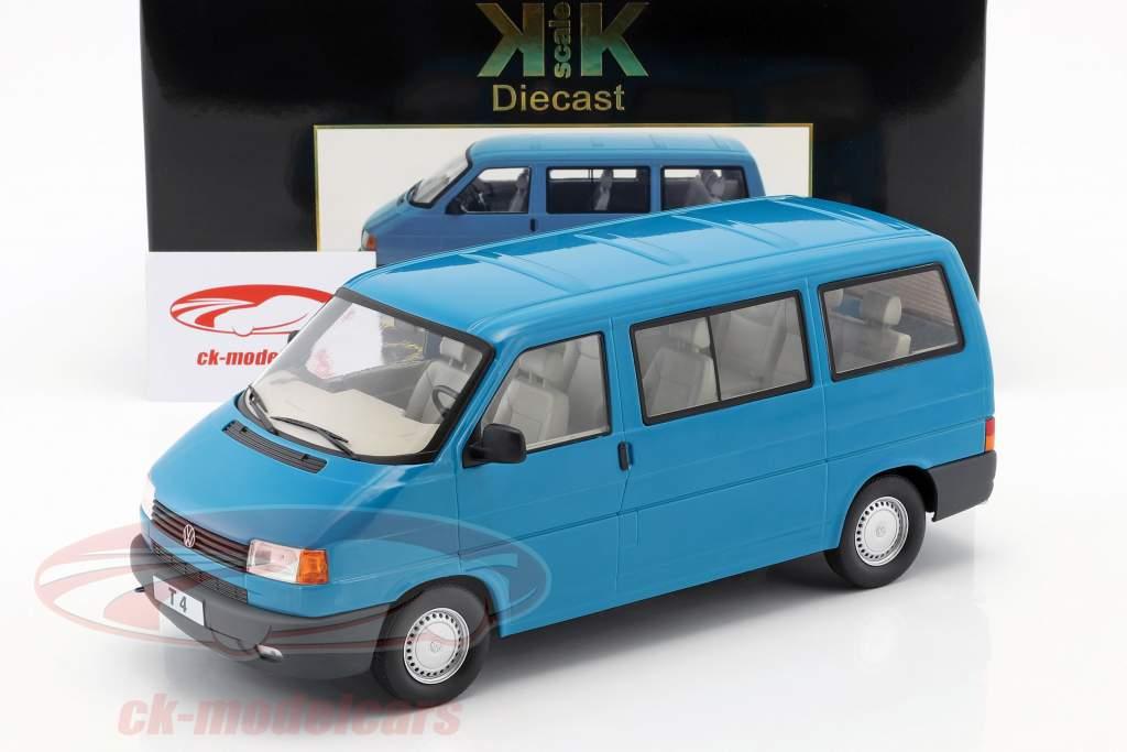 Volkswagen VW T4 ônibus Caravelle ano de construção 1992 turquesa 1:18 KK-Scale