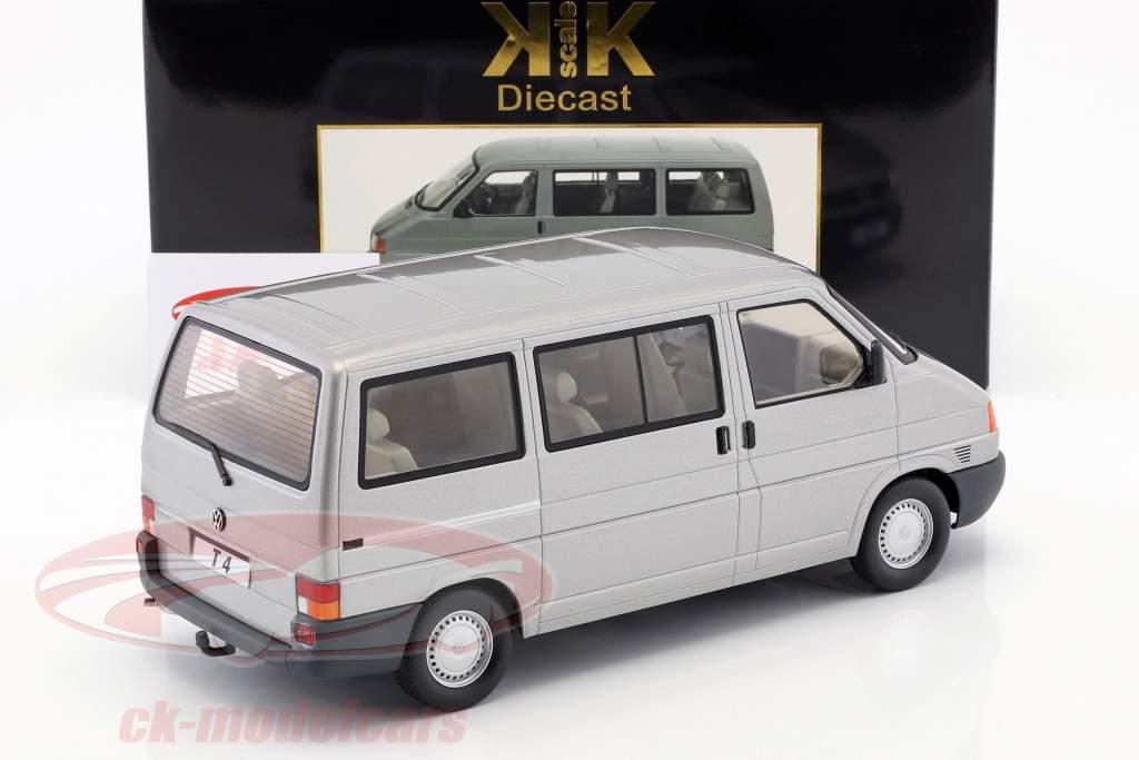 Volkswagen VW T4 bus Caravelle année de construction 1992 gris métallique 1:18 KK-Scale