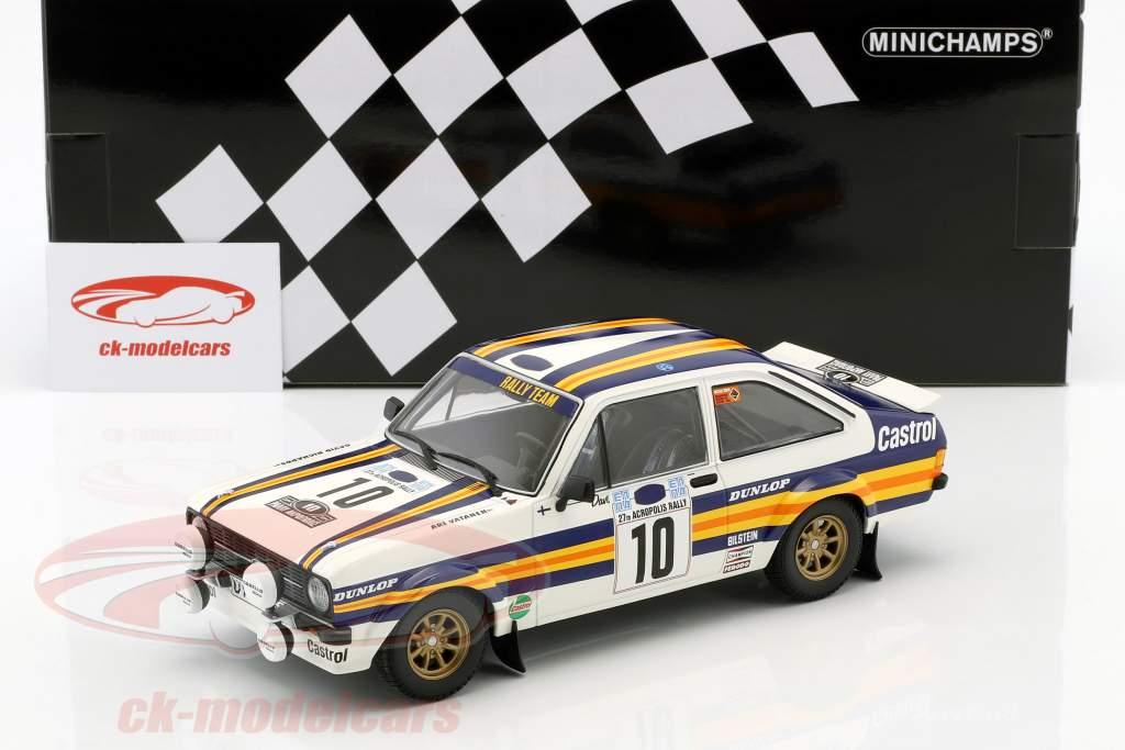 Ford Escort RS 1800 #10 Vinder Rallye Akropolis 1980 Vatanen, Richards 1:18 Minichamps