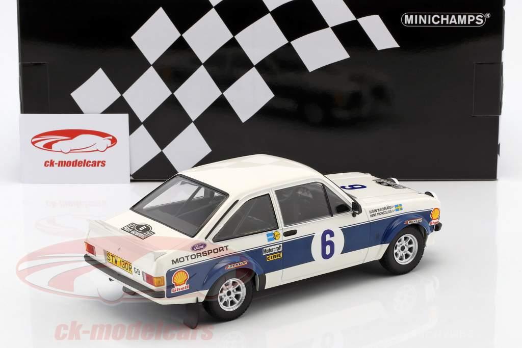 Ford Escort RS 1800 #6 ganador Rallye acrópolis 1977 Waldegaard, Thorszelius 1:18 Minichamps