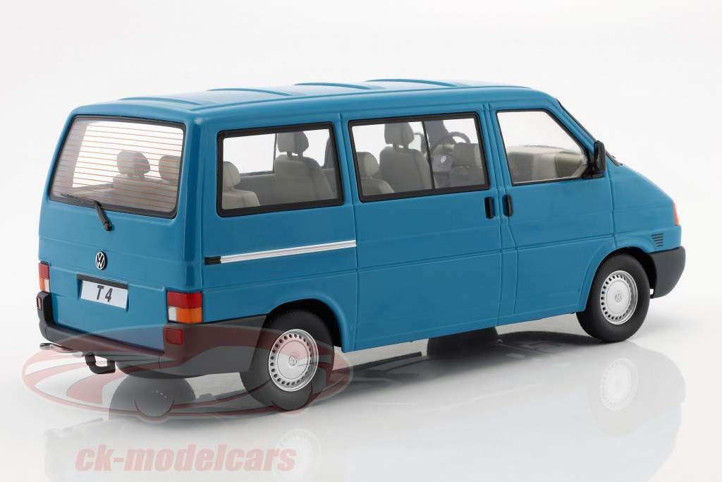 Volkswagen VW T4 Bus Caravelle Baujahr 1992 türkis 1:18 KK-Scale