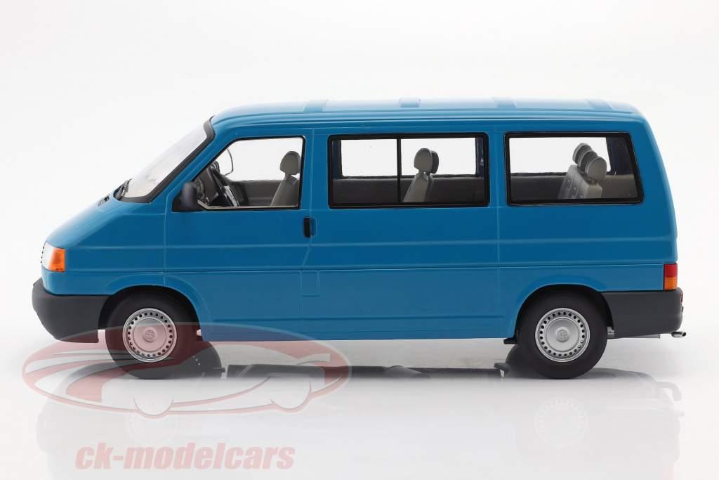 Volkswagen VW T4 bus Caravelle Bouwjaar 1992 turkoois 1:18 KK-Scale