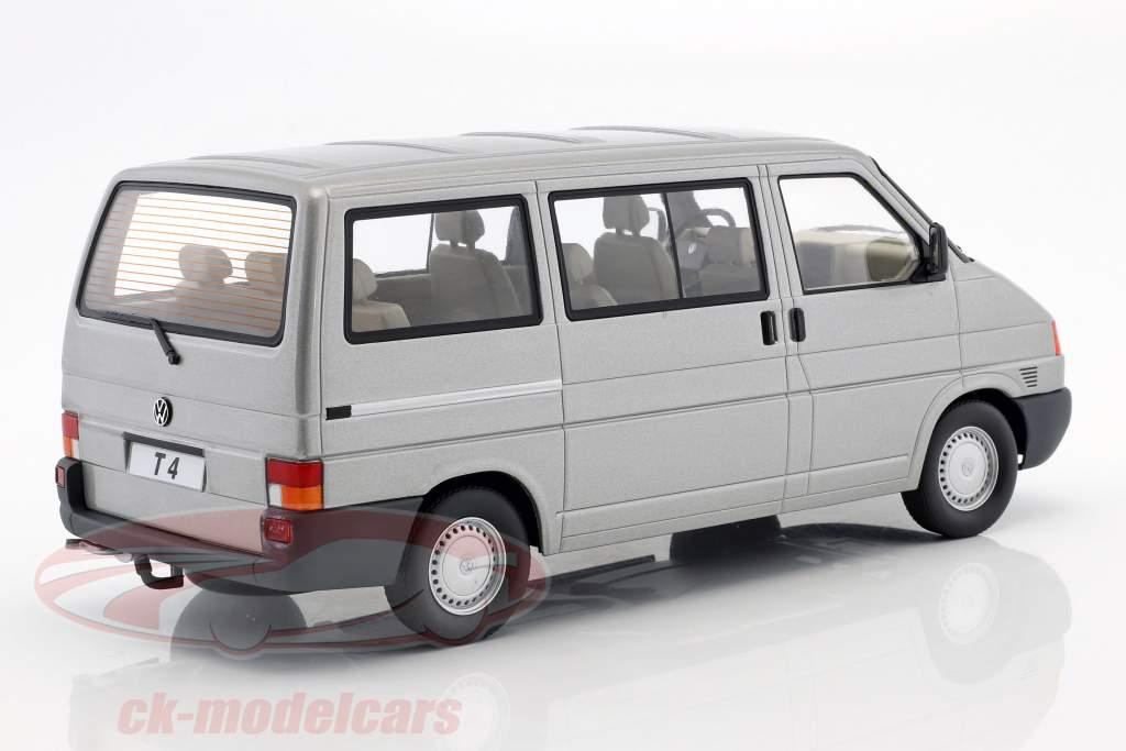 Volkswagen VW T4 bus Caravelle Opførselsår 1992 grå metallisk 1:18 KK-Scale