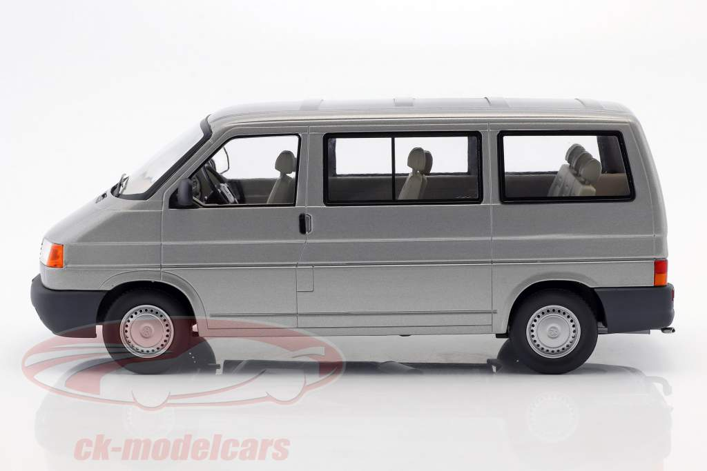 Volkswagen VW T4 ônibus Caravelle ano de construção 1992 cinza metálico 1:18 KK-Scale