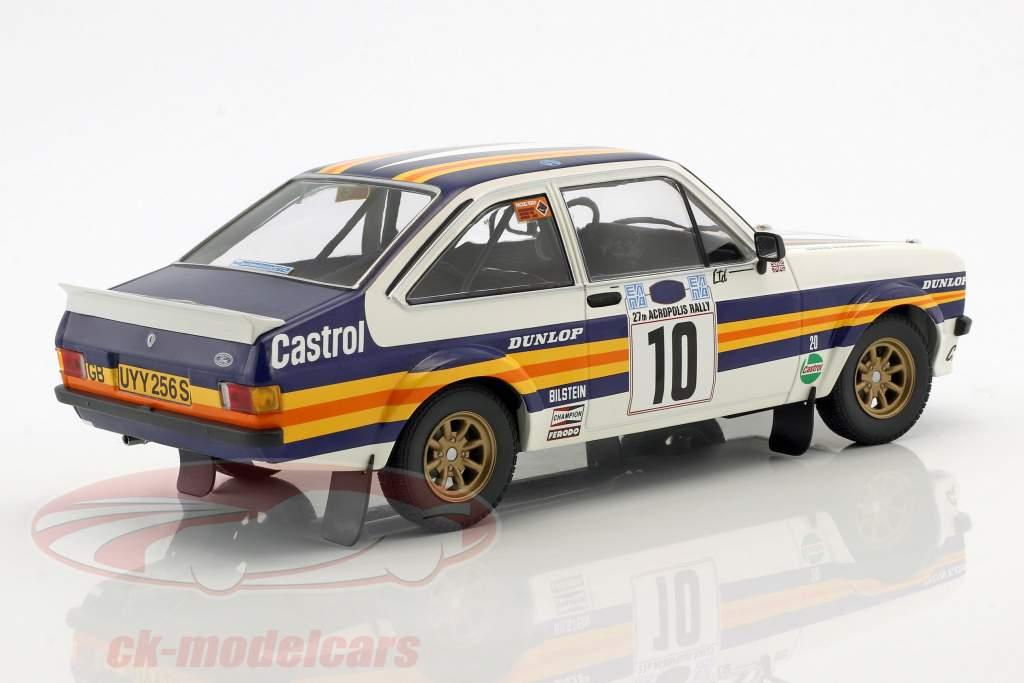 Ford Escort RS 1800 #10 gagnant Rallye acropole 1980 Vatanen, Richards 1:18 Minichamps