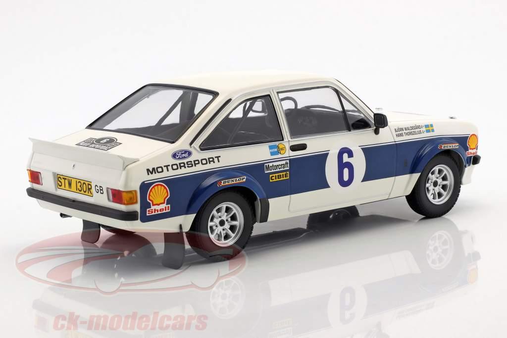 Ford Escort RS 1800 #6 Vinder Rallye Akropolis 1977 Waldegaard, Thorszelius 1:18 Minichamps