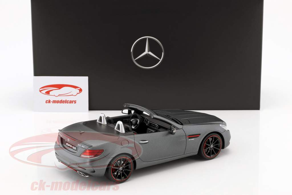 Mercedes-Benz AMG SLC 43 Coupe designo selenite gray magno 1:18 GT-Spirit