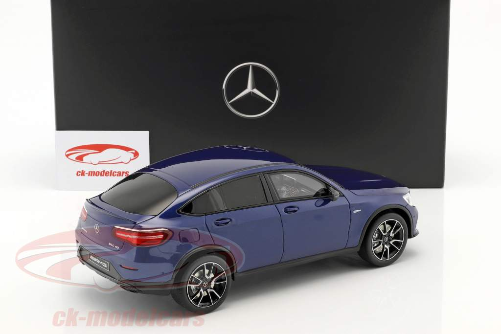 Mercedes-Benz AMG GLC 43 coupe brilliant blue 1:18 GT-Spirit