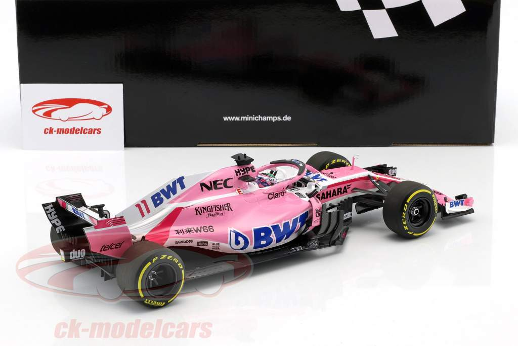 Sergio Perez Force India VJM11 #11 fórmula 1 2018 1:18 Minichamps