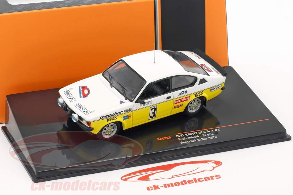 Opel Kadett GT/E Gr.1 #3 Rally Hunsrück 1978 Warmbold, Pitz 1:43 Ixo