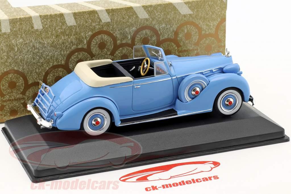 Packard Convertible Victoria Opførselsår 1938 lyseblå 1:43 Ixo