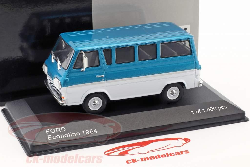 Ford Econoline year 1964 turquoise metallic / white 1:43 WhiteBox