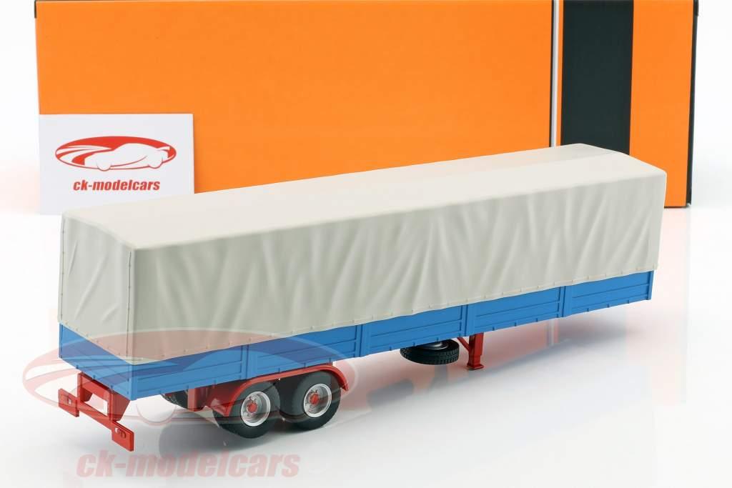 Remolque de camión con lona alquitranada azul / gris 1:43 Ixo