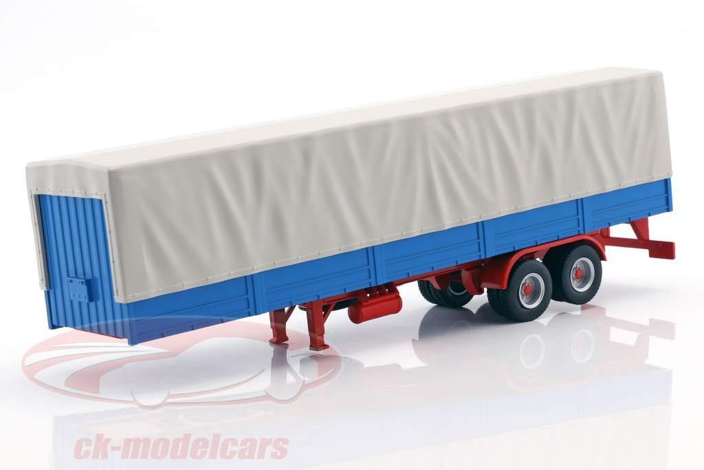 truck Trailer met dekkleed blauw / grijs 1:43 Ixo