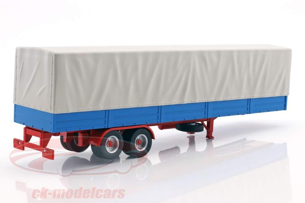 Remorque de camion avec bâche bleu / gris 1:43 Ixo