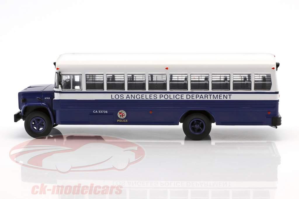 GMC 6000 LAPD Police Department année de construction 1988 bleu / blanc 1:43 Ixo