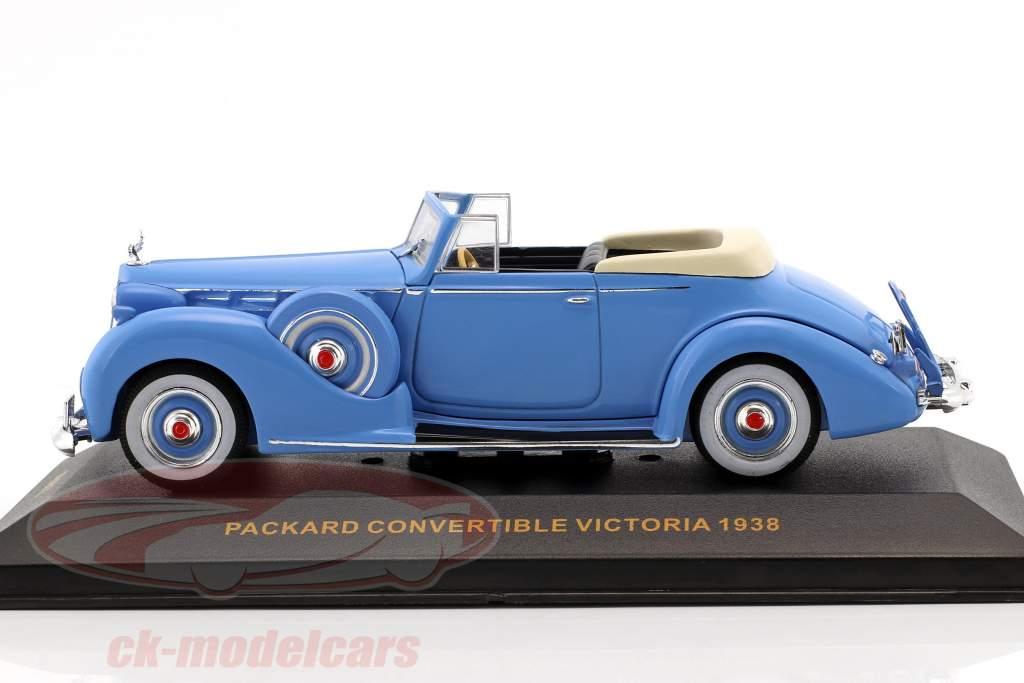 Packard Convertible Victoria año de construcción 1938 azul claro 1:43 Ixo