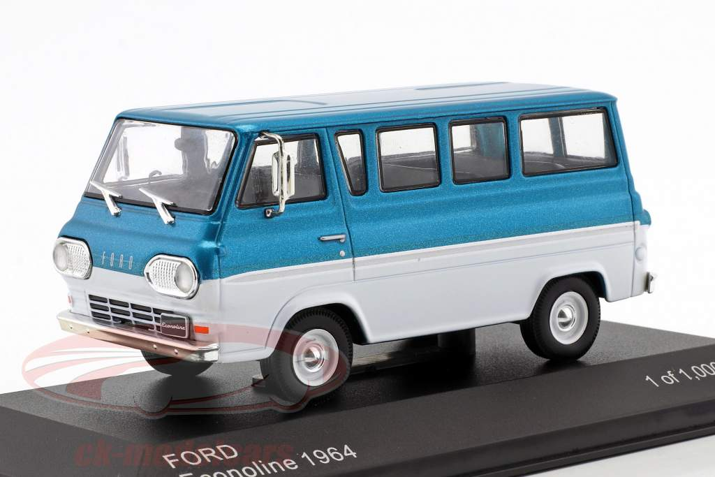 Ford Econoline Bouwjaar 1964 turkoois metalen / wit 1:43 WhiteBox