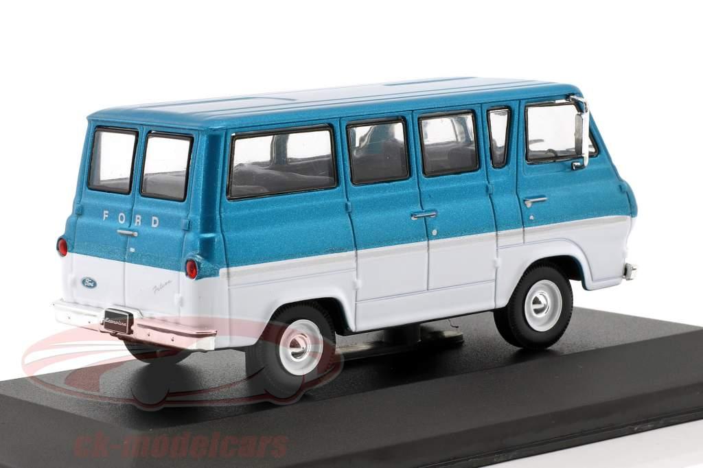 Ford Econoline Bouwjaar 1964 turkoois metalen / wit 1:43 WhiteBox